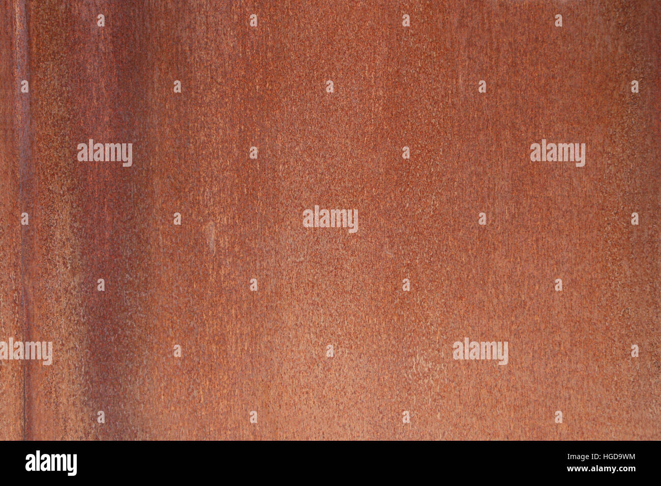 A great rusty brown redish iron background. - Stock Image