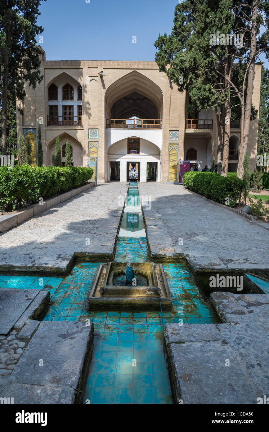Fountain And Central Pavilion In Oldest Extant Persian Garden In Iran  Called Fin Garden (Bagh E Fin), Located In Kashan City