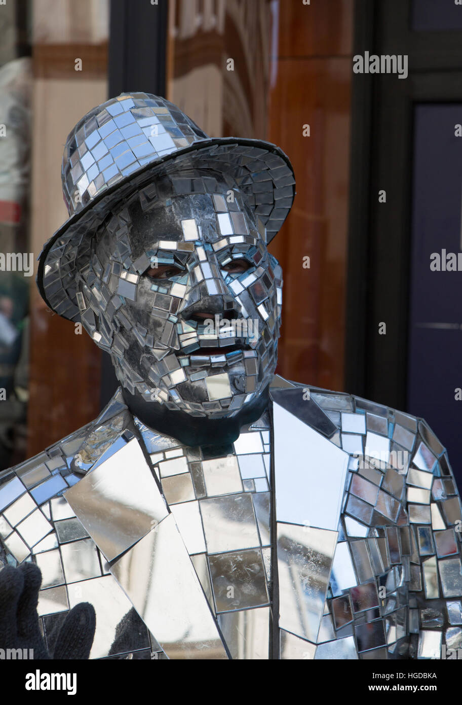Street performer in Krakow - Stock Image