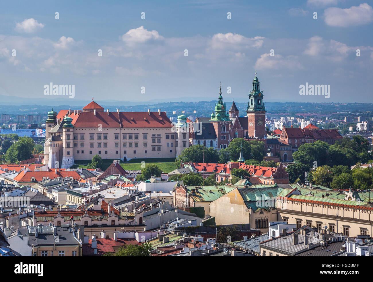 Wawel Royal Castle in Krakow - Stock Image