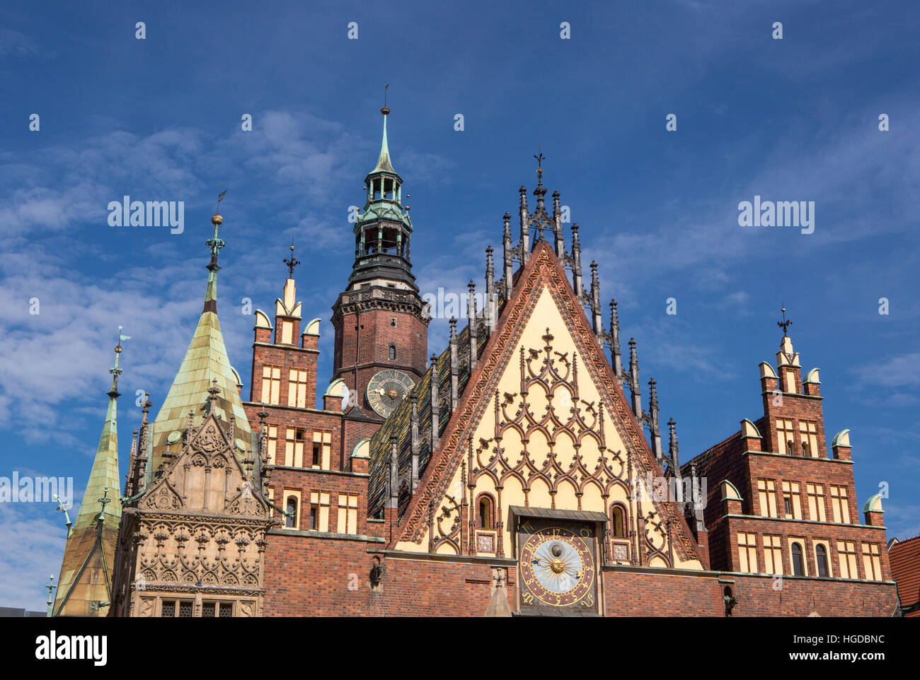 Town Hall in Wroclaw City - Stock Image