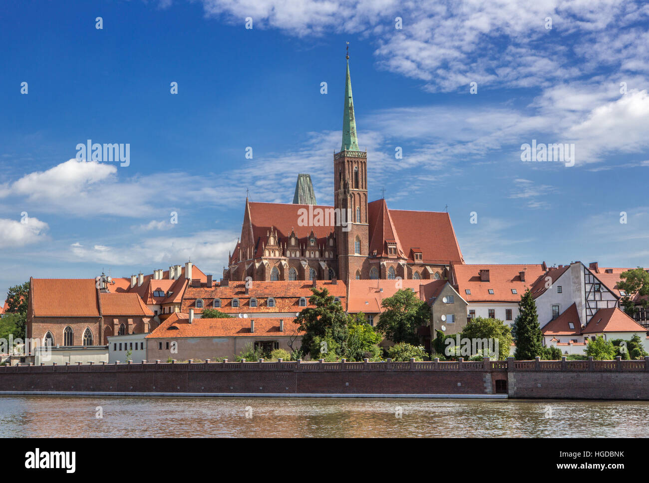 Holly Cross Church in Wroclaw City - Stock Image