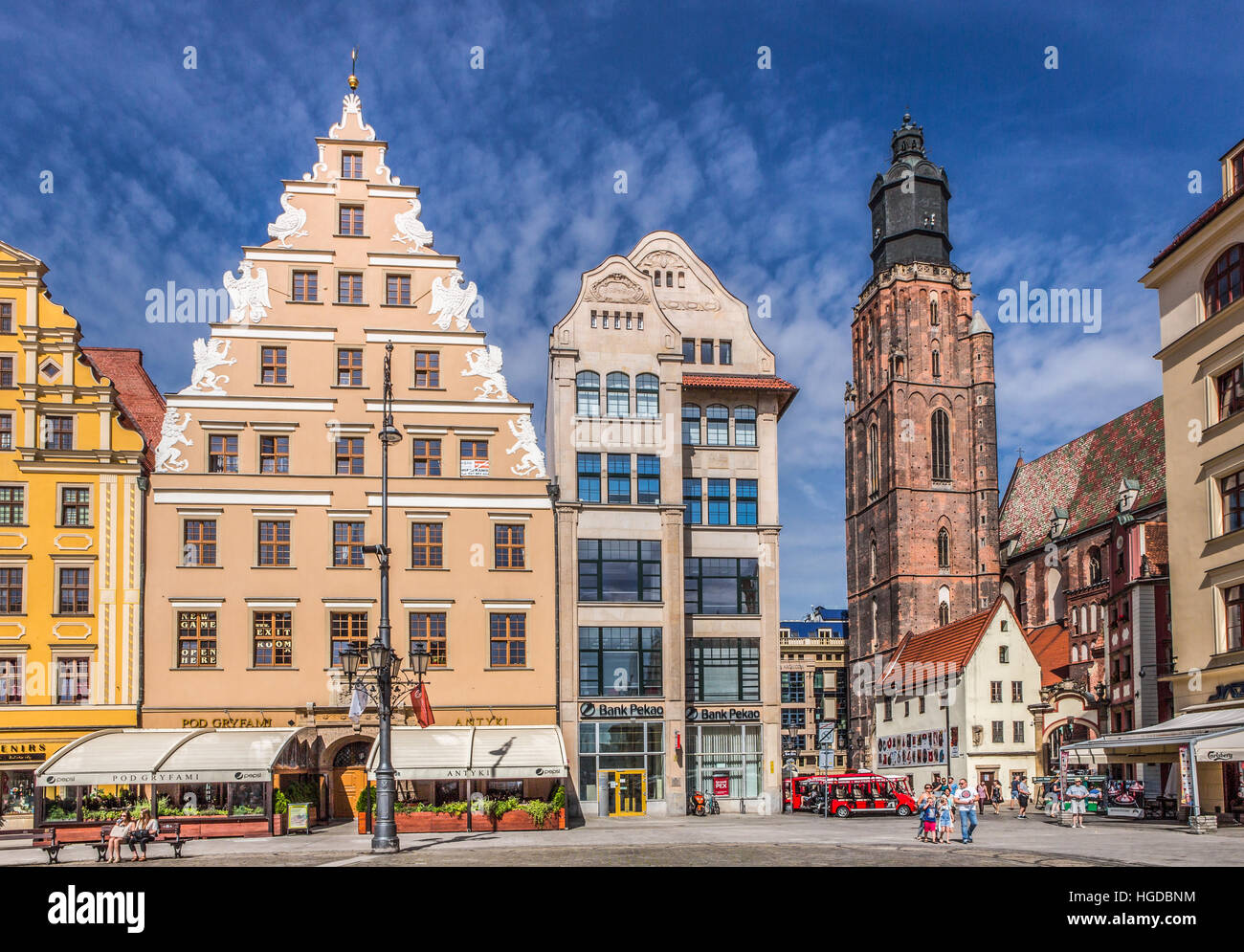 Market Square in Wroclaw City - Stock Image