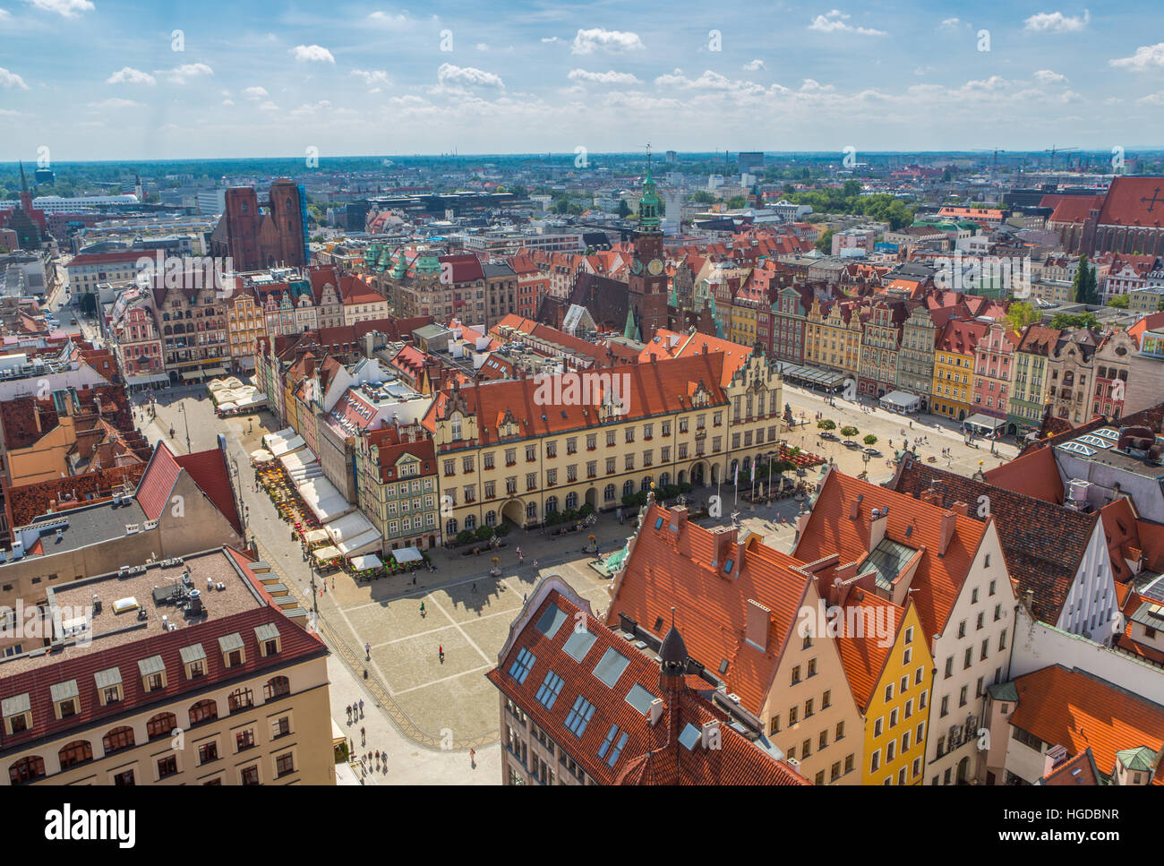 view over Wroclaw City - Stock Image