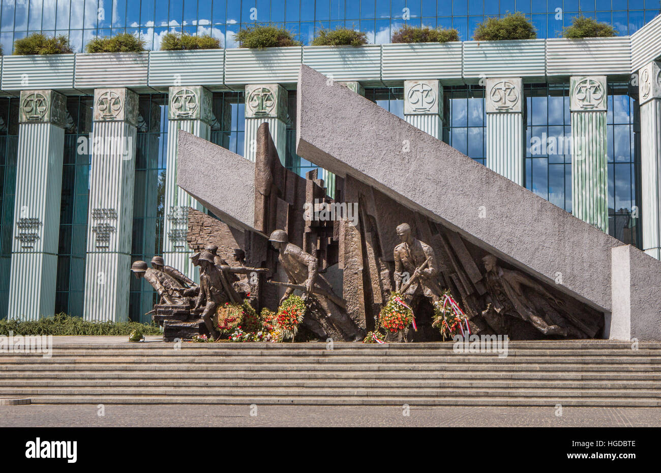 the Warsaw uprising heroes Monument Stock Photo