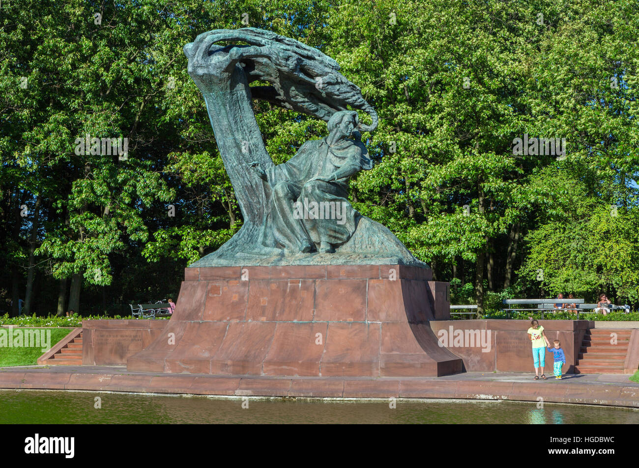 Chopin Monument - Stock Image