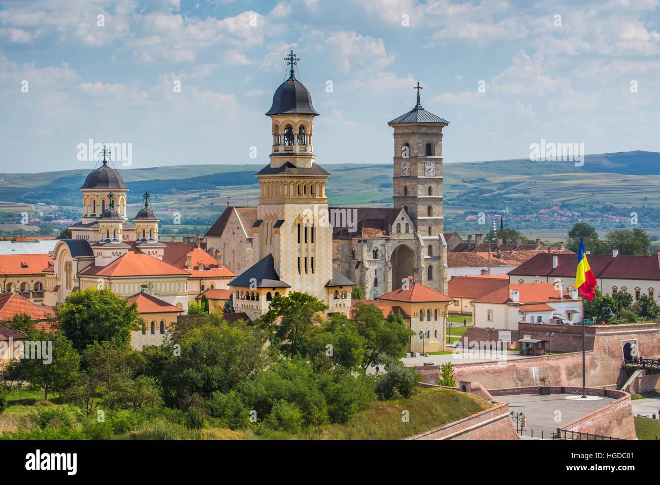 Romania, Alba Julia City, Alba Julia Citadel, Reintregirii Neamului Cathedral - Stock Image