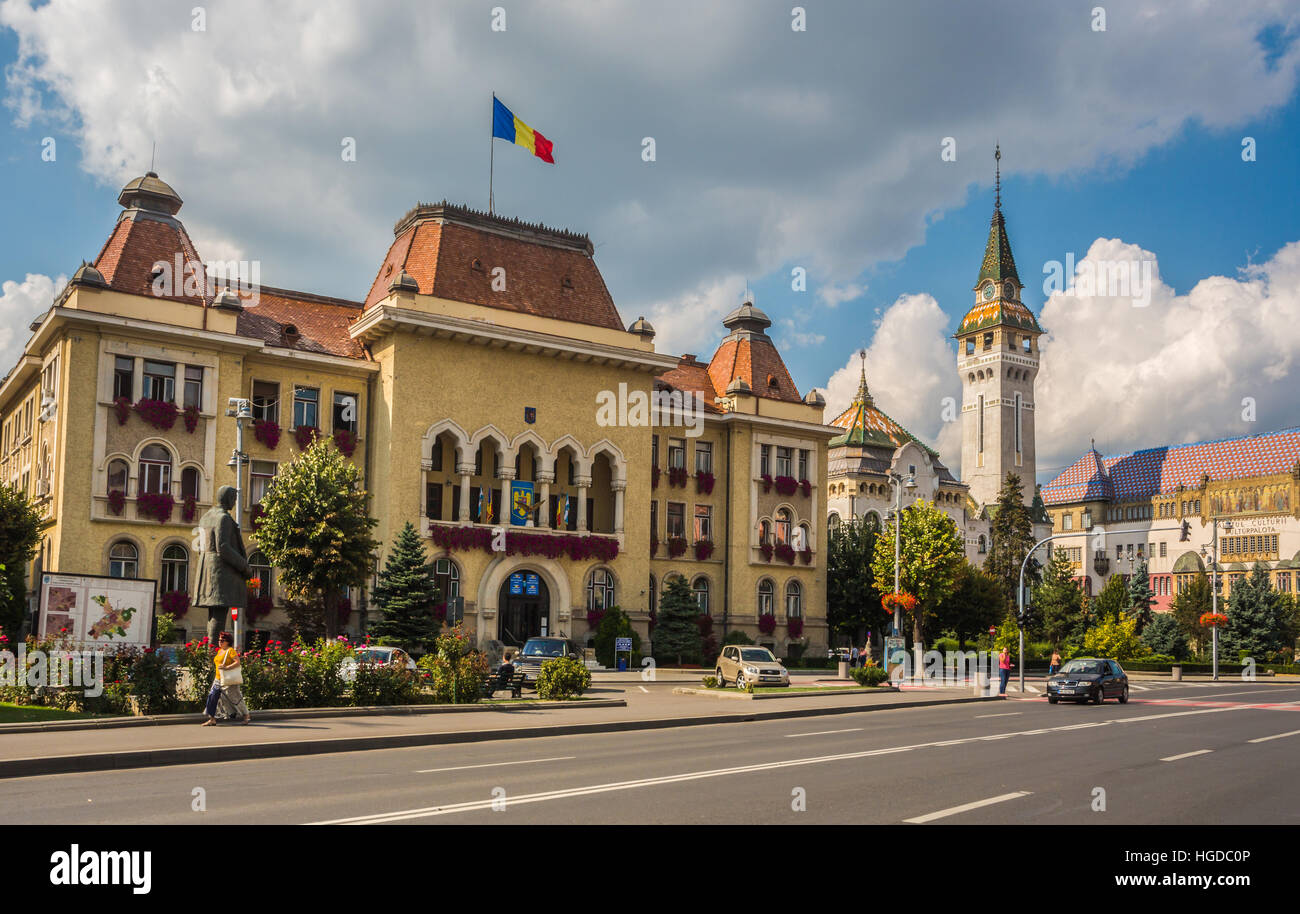 Romania, Targu Mures City, The City Hall and Prefecture building - Stock Image