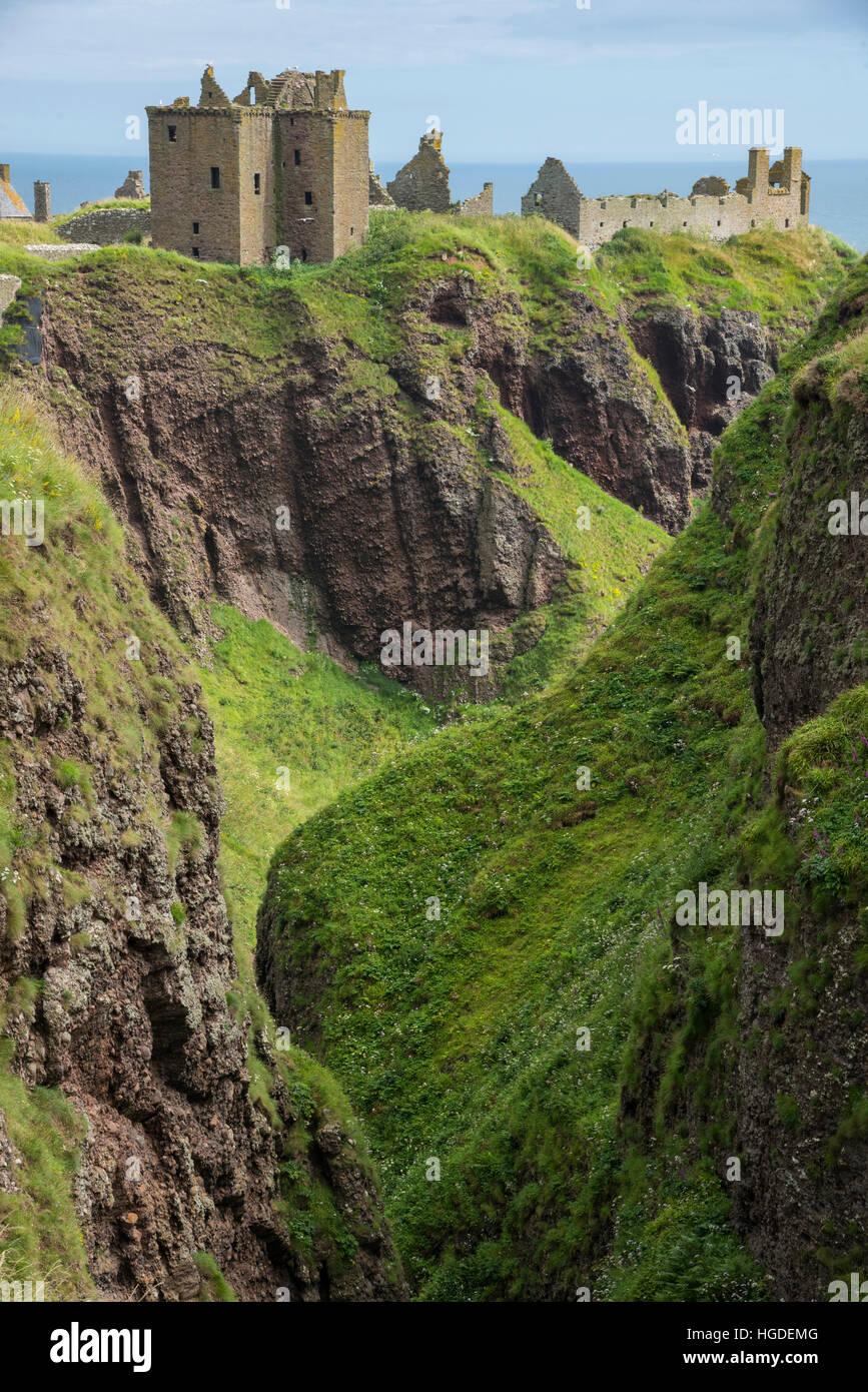 Europe, UK, United Kingdom, Scotland, Stonehaven, Dunnottar castle, - Stock Image