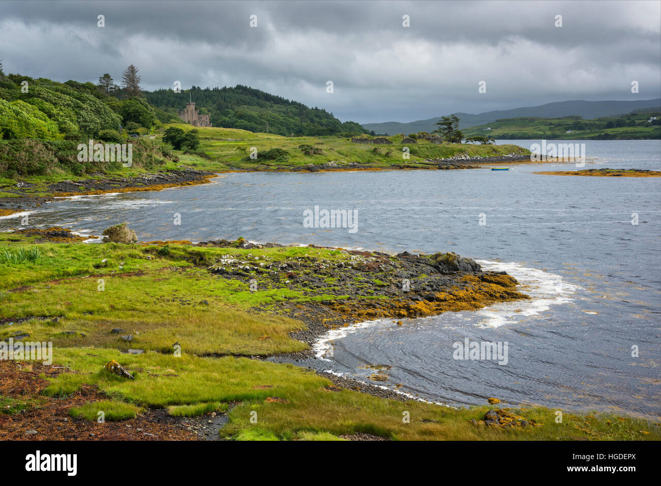 Scotland, Hebrides archipelago, Isle of Skye, Dunvegan Castle - Stock Image