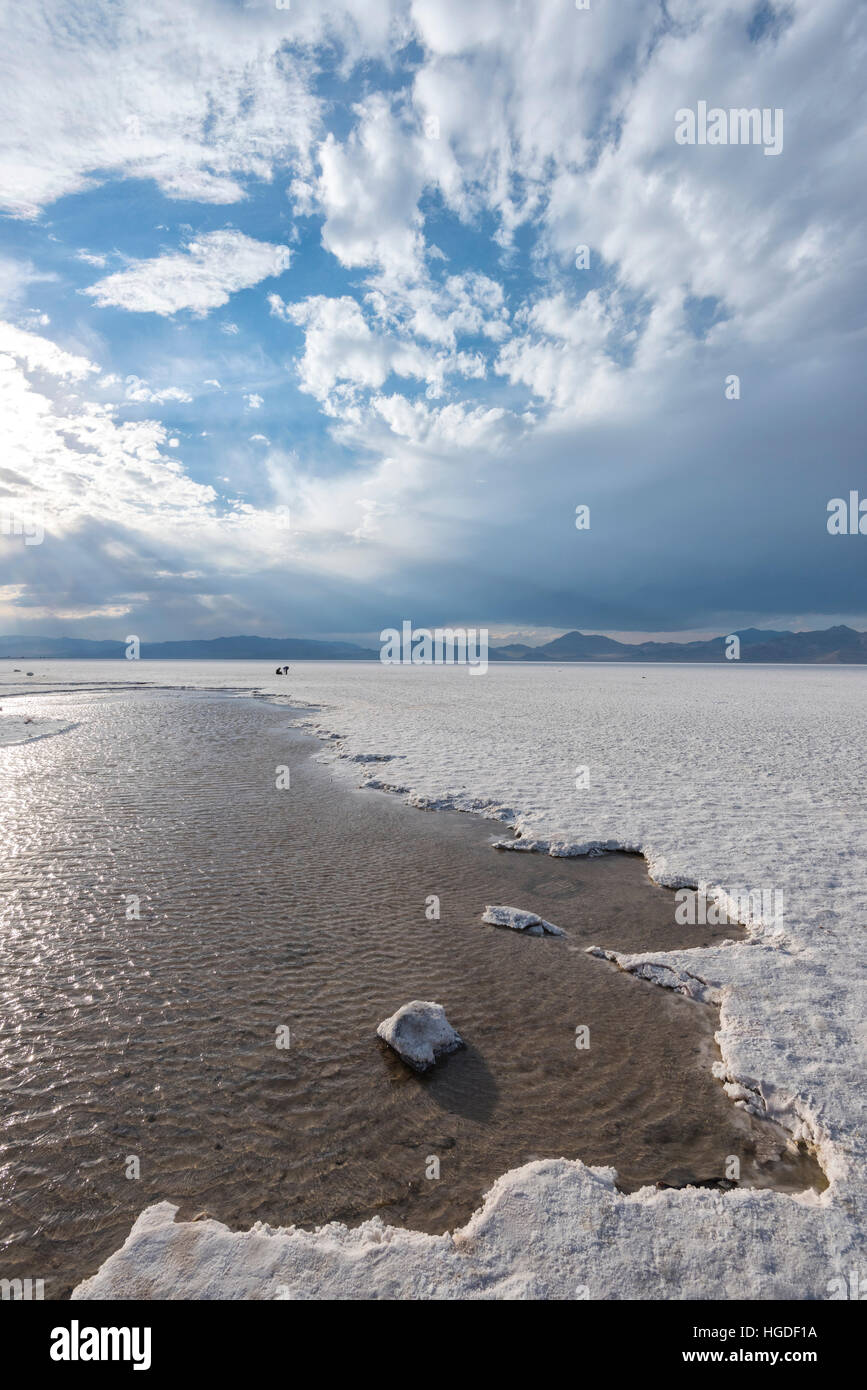 Utah, Wendover, Bonneville Salt Flats, Stock Photo