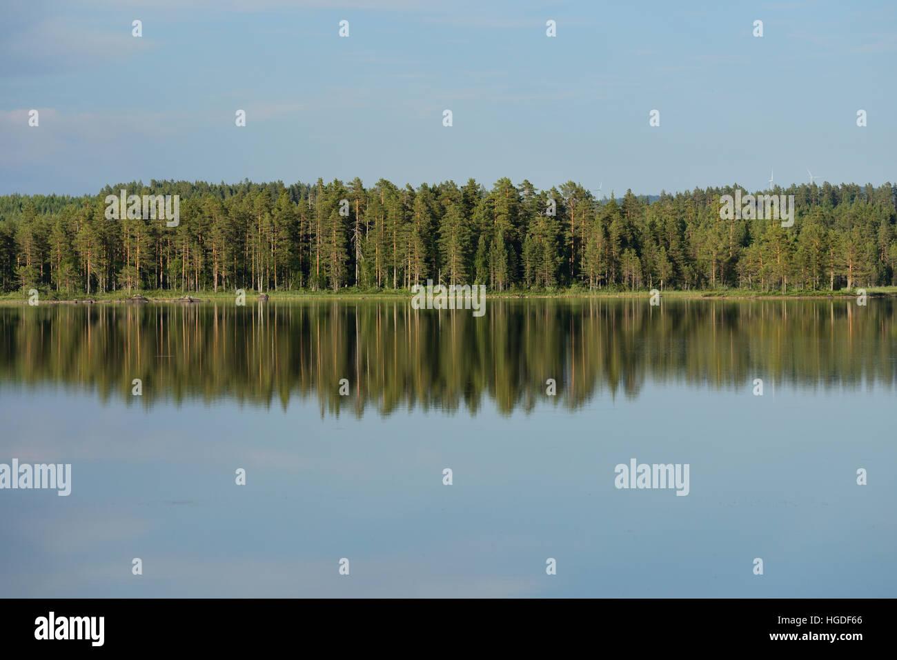 Lake Kättosjön, Dalarna, Sweden - Stock Image