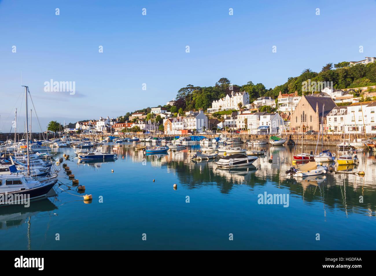 United Kingdom, Channel Islands, Jersey, St. Aubin's Harbour - Stock Image