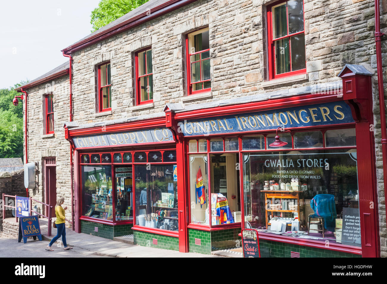 Wales, Cardiff, St Fagan's, Museum of Welsh Life, Gwalia Supply Store - Stock Image