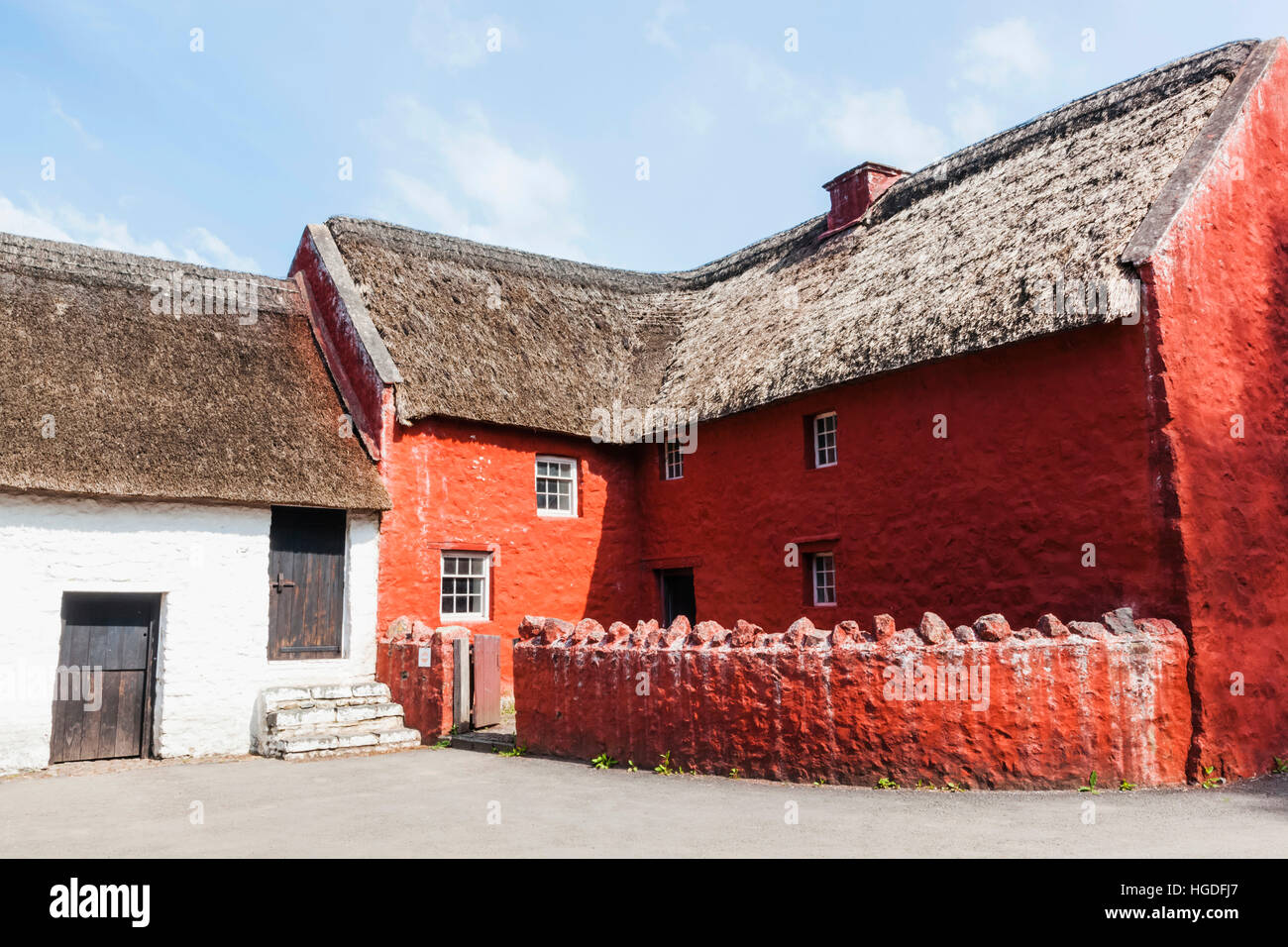 Wales, Cardiff, St Fagan's, Museum of Welsh Life, Historic Village House - Stock Image