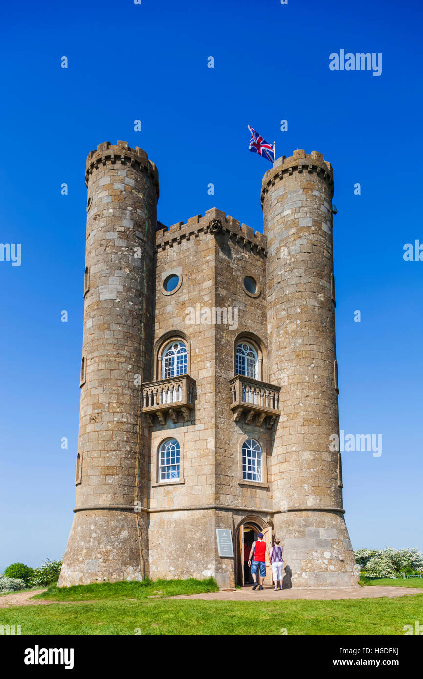 England, Worcestershire, Cotswolds, Broadway, Broadway Tower Stock Photo