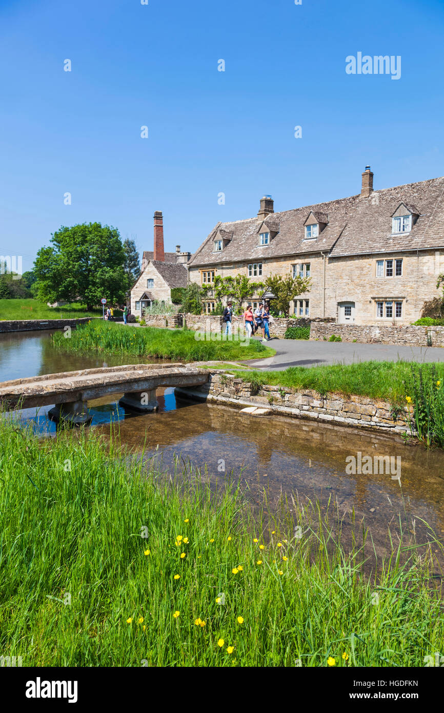 England, Gloucestershire, Cotswolds, Lower Slaughter - Stock Image