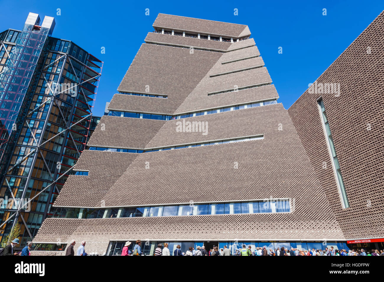 England, London, Tate Modern, The Switch House - Stock Image