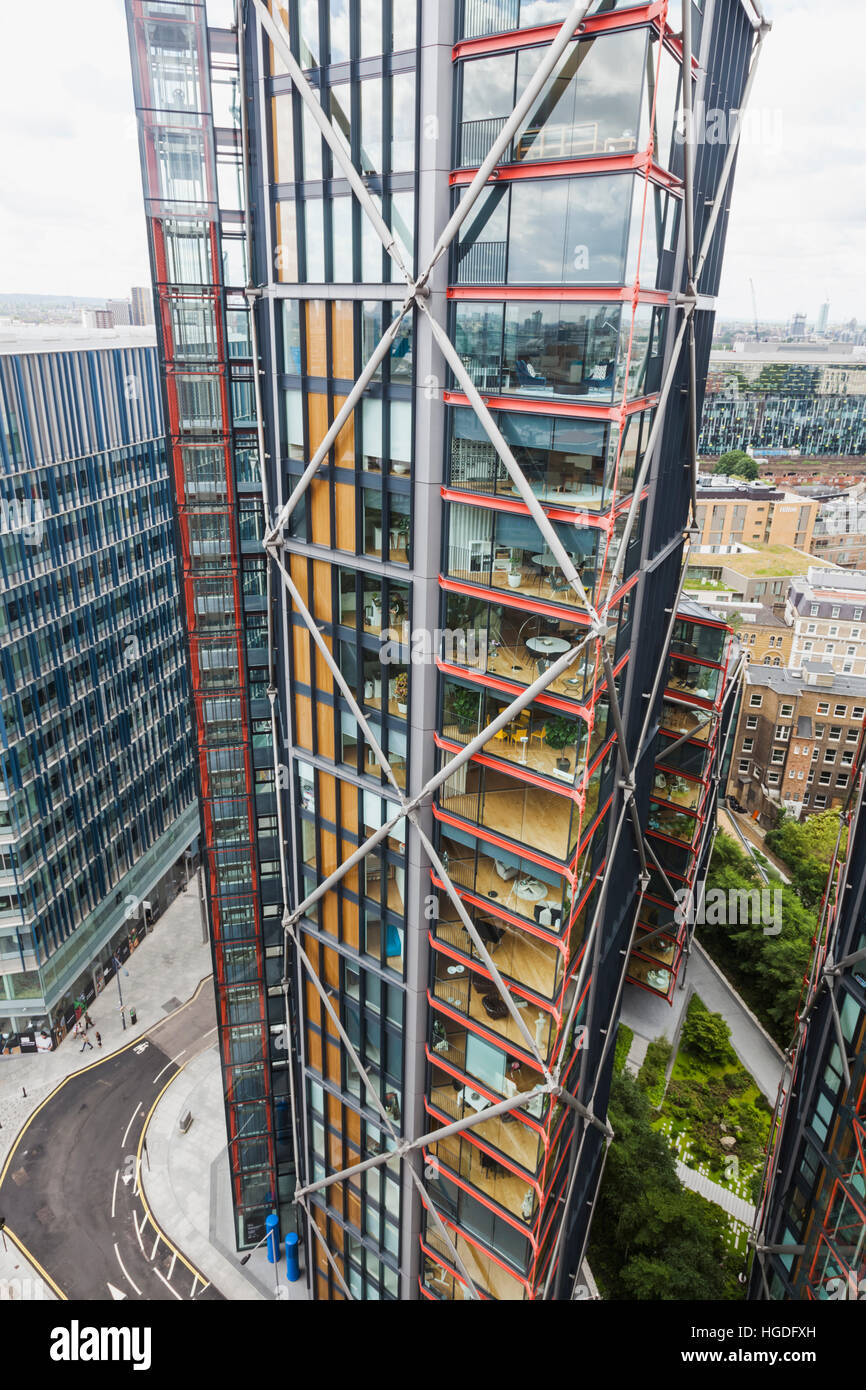 England, London, Bankside, Modern Highrise Apartments - Stock Image