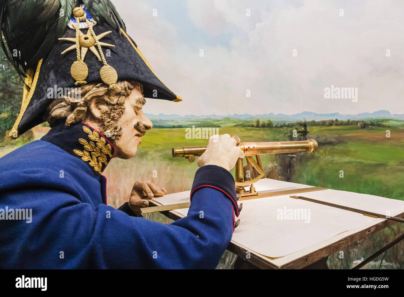 Germany, Bavaria, Munich, Deutsches Museum, Exhibit of 19th century Topographical Survey - Stock Image