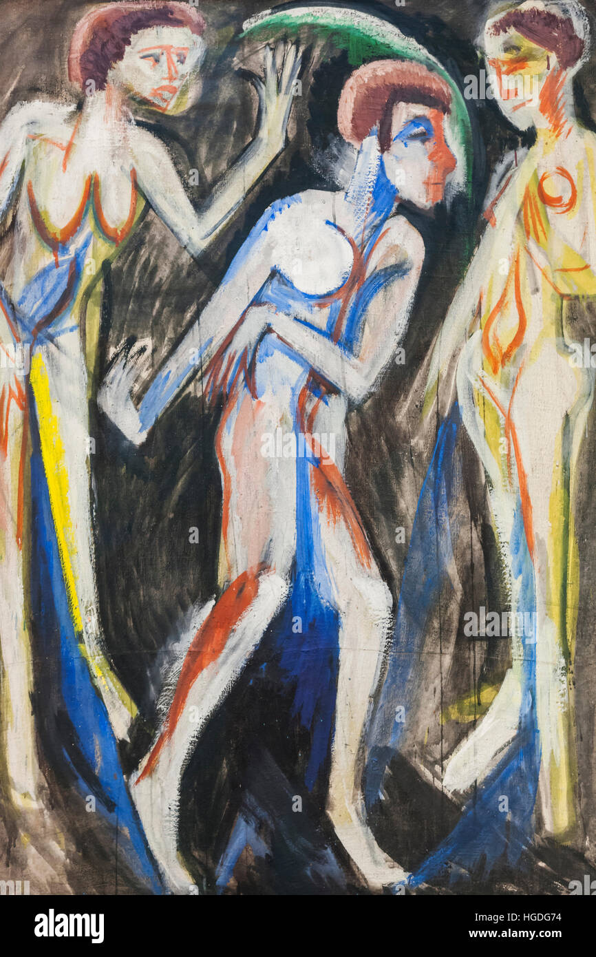 Germany, Bavaria, Munich, The Pinakothek Museum of Modern Art (Pinakothek der Moderne), Painting titled 'Der - Stock Image