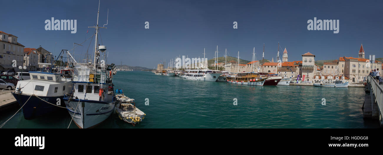 Old Town and harbour of Trogir, Stock Photo