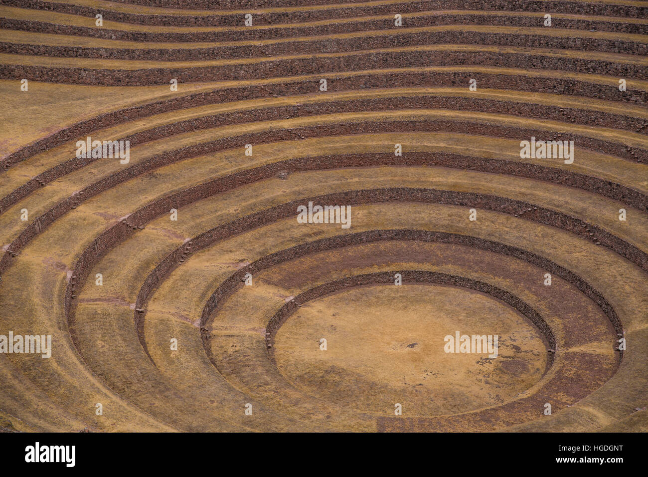Inca fields in Moray, - Stock Image