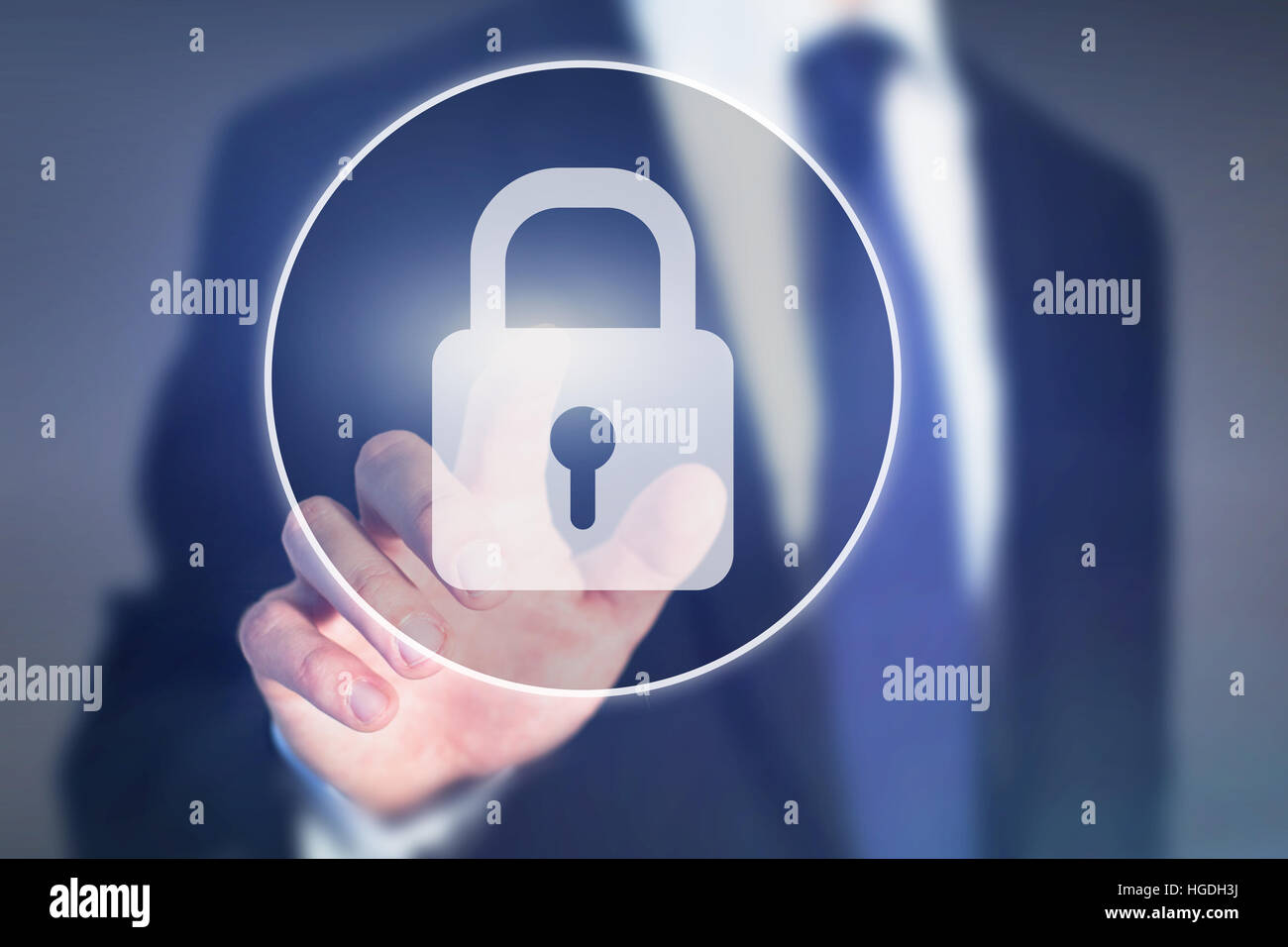 internet data security concept - Stock Image