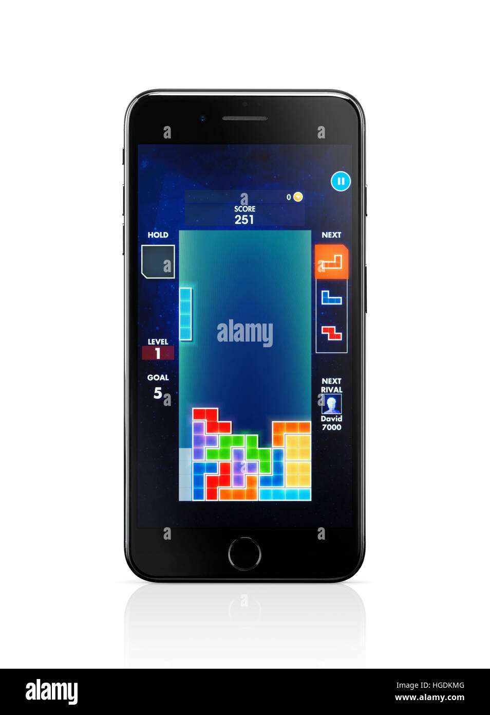 Apple iPhone 7 Plus, with Tetris, classic video game on its display