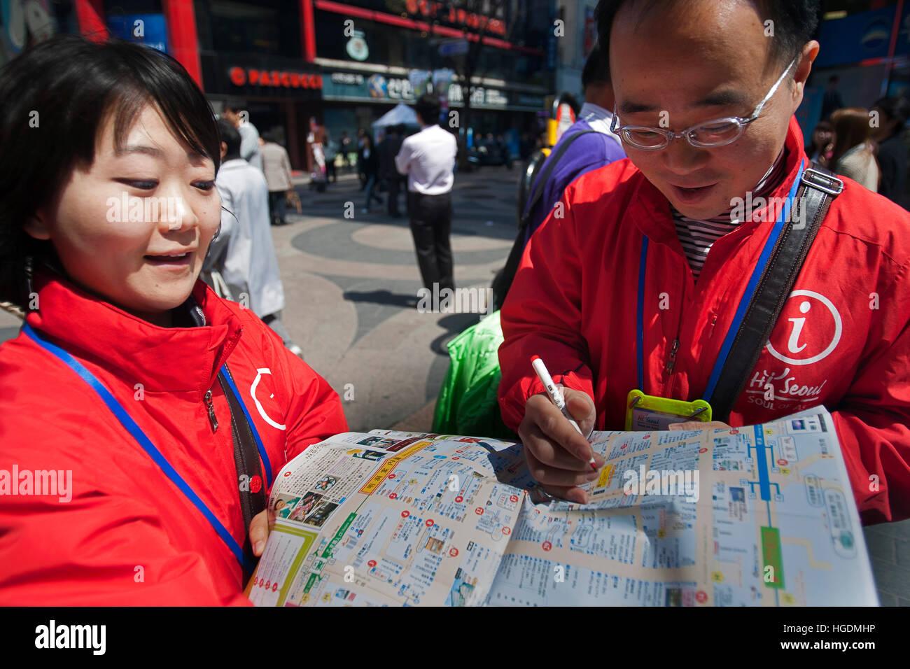 Tourist information officers Seoul South Korea Stock Photo - Alamy
