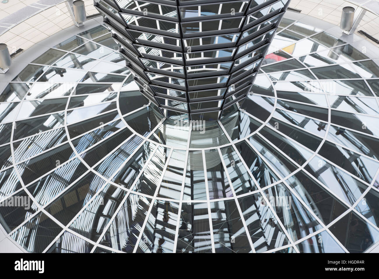 the dome of the Reichstag building in Berlin - Stock Image