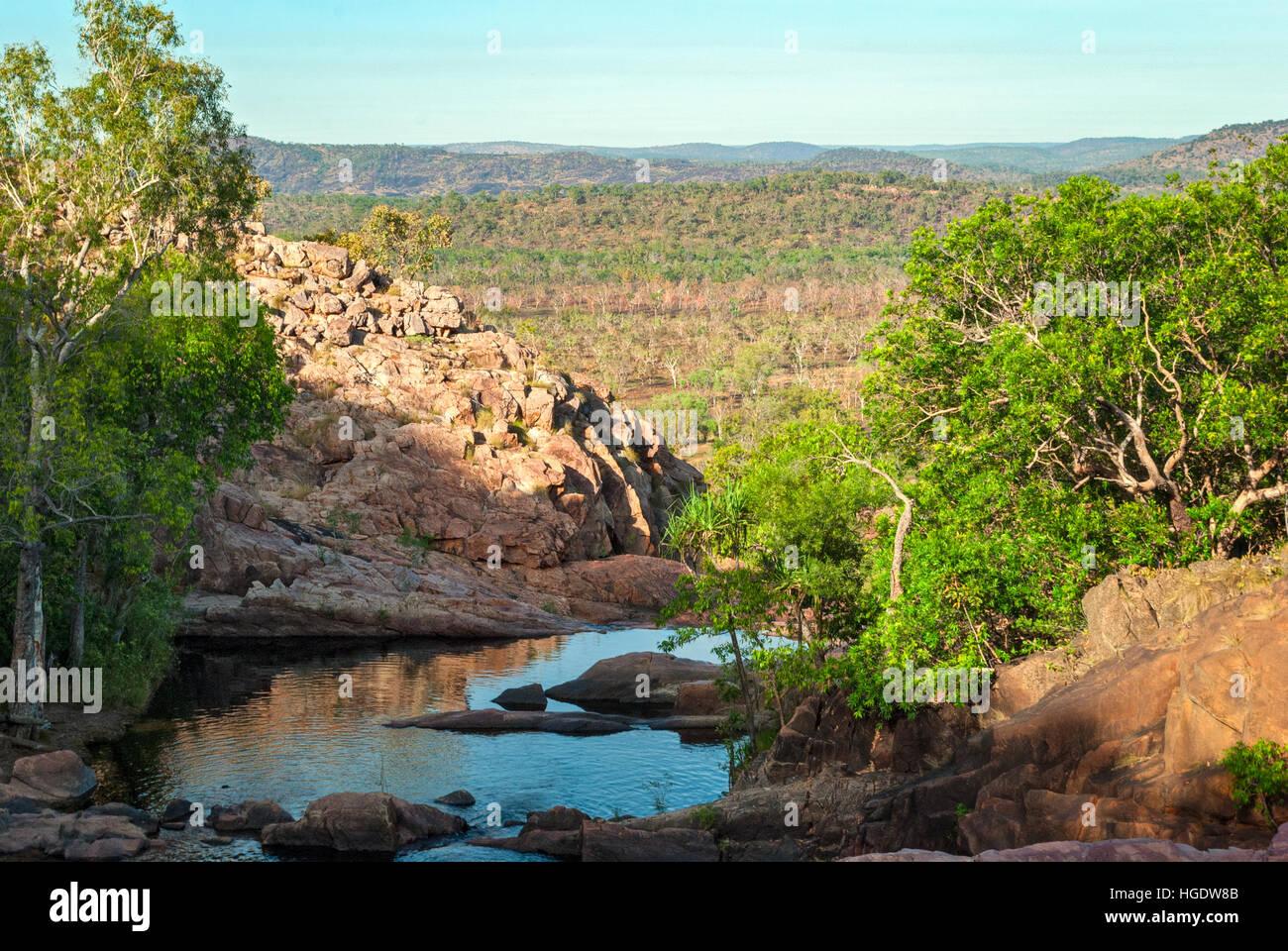 Kakadu National Park (Northern Territory Australia) landscape near Gunlom lookout - Stock Image