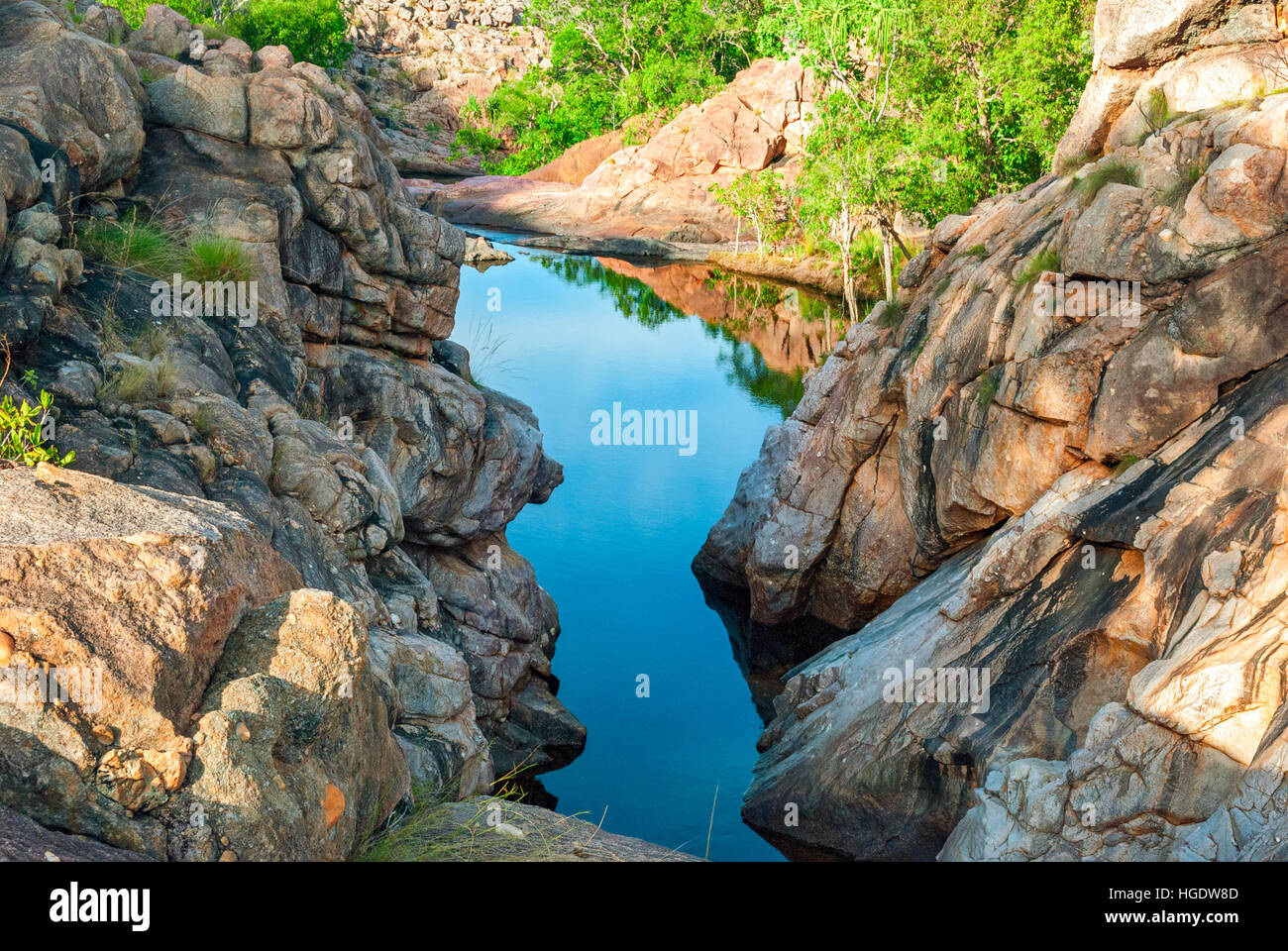 Kakadu National Park (Northern Territory Australia) landscape near Gunlom lookout - Stock Image