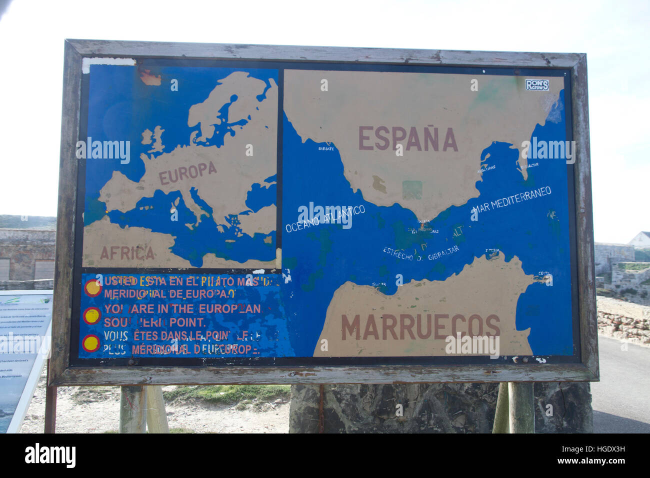 Tarifa Map Spain Stock Photos Tarifa Map Spain Stock Images Alamy