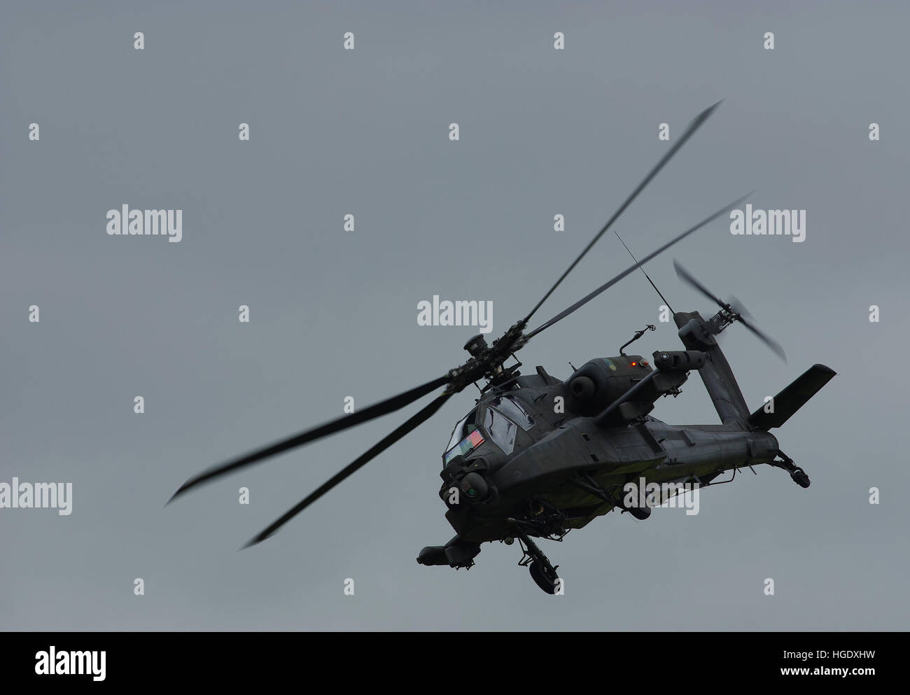 Koninklijke Luchtmacht Apache Displaying at RIAT 2016. Stock Photo