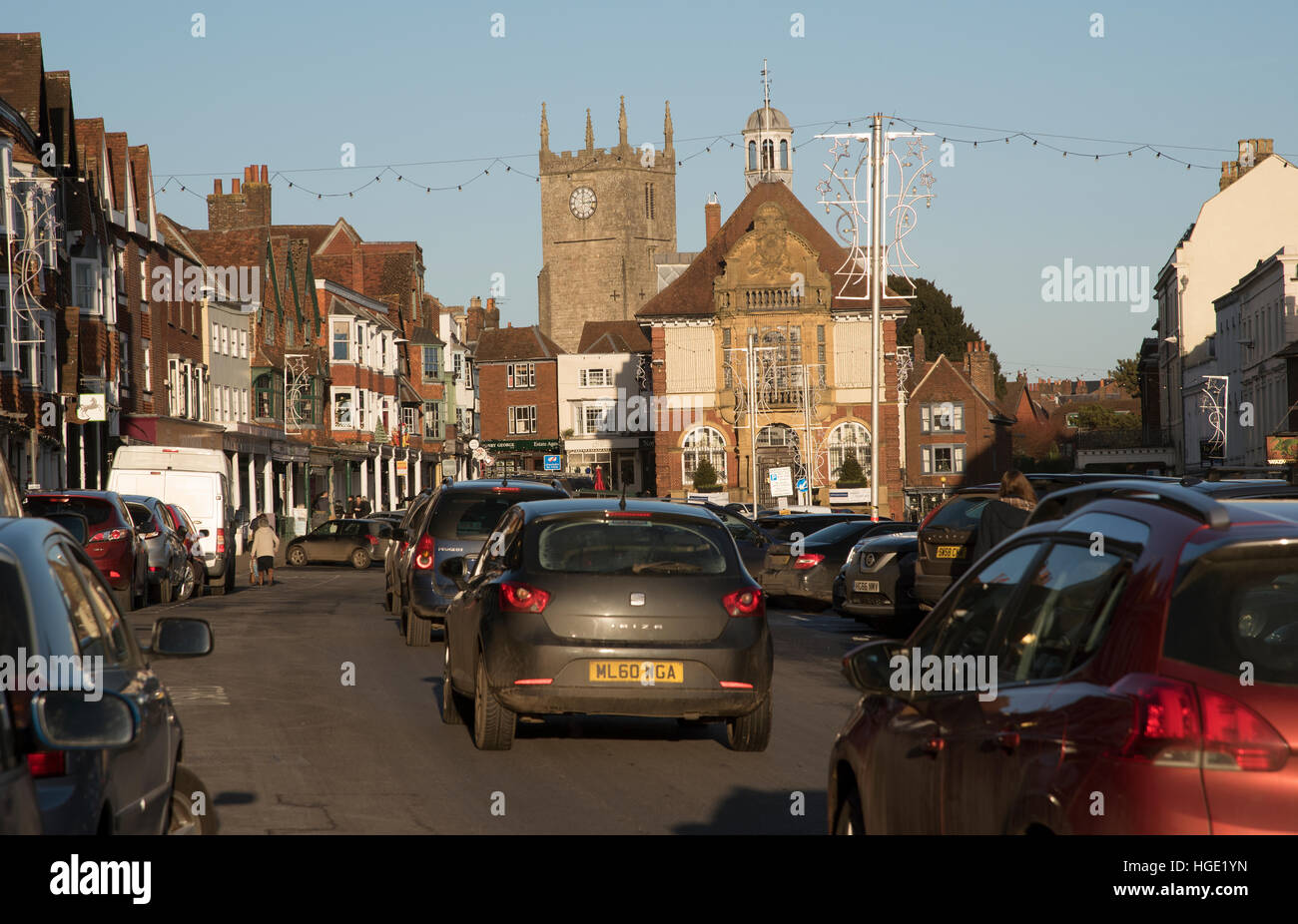 Marlborough town centre a market town in Wiltshire England UK - Stock Image