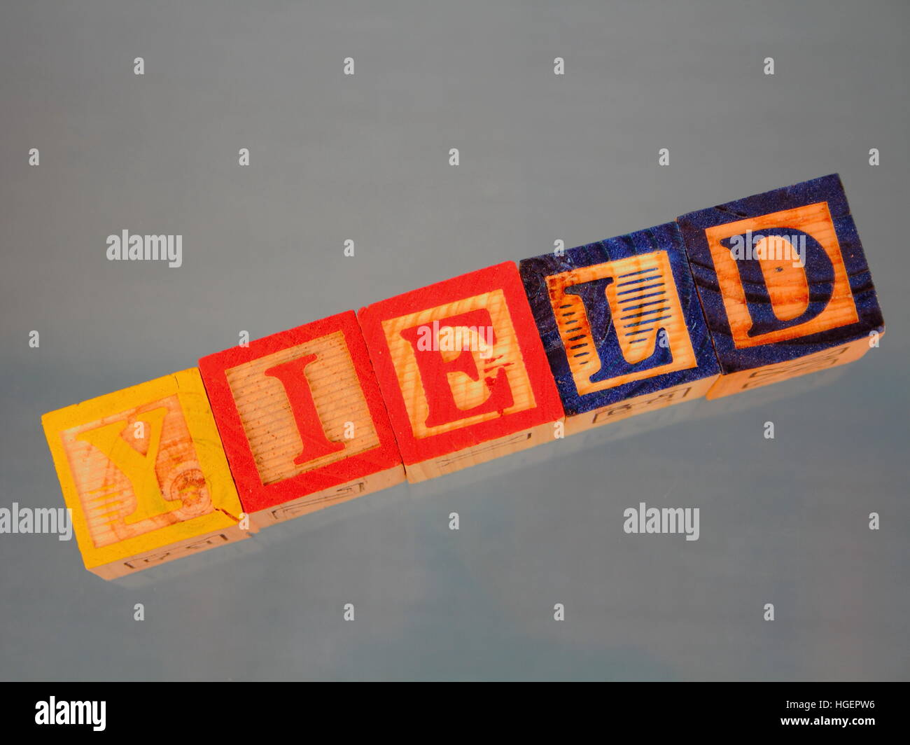 Business term - yield - Stock Image