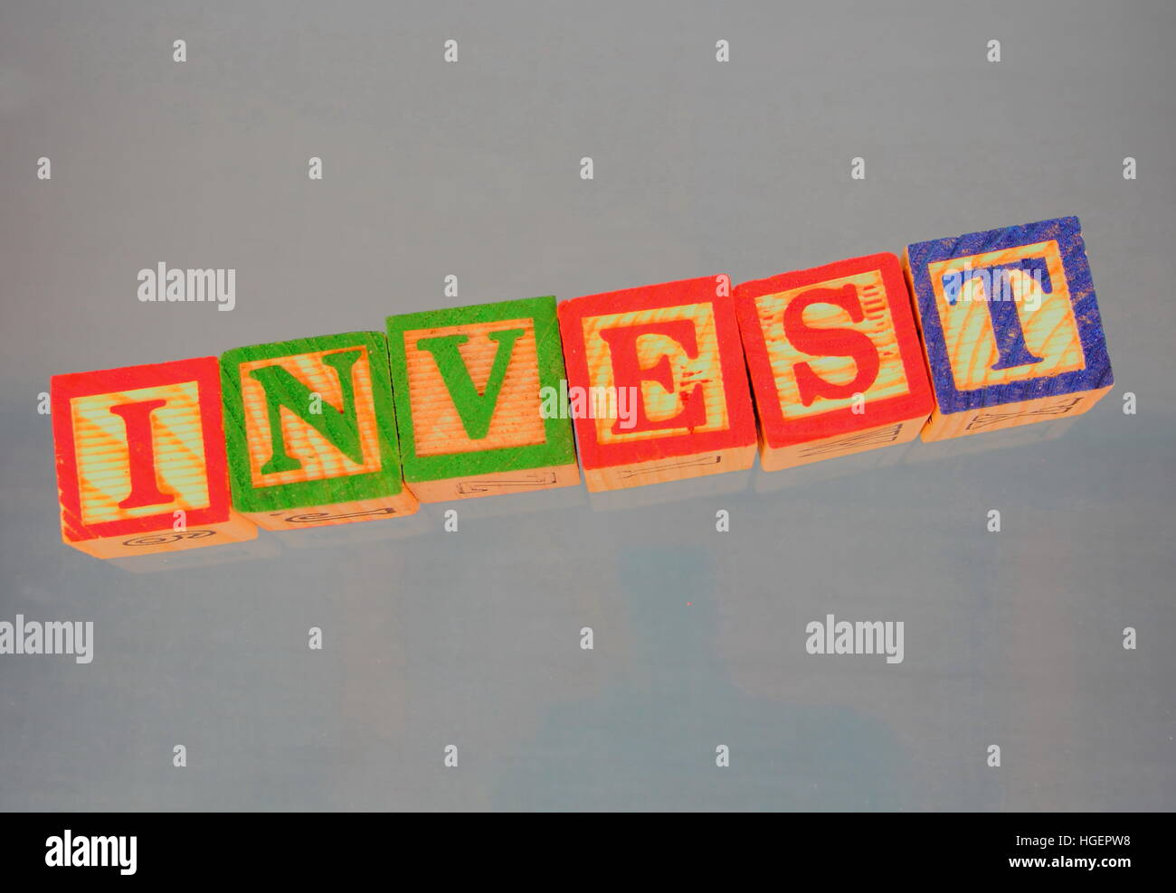 Business term - invest - Stock Image