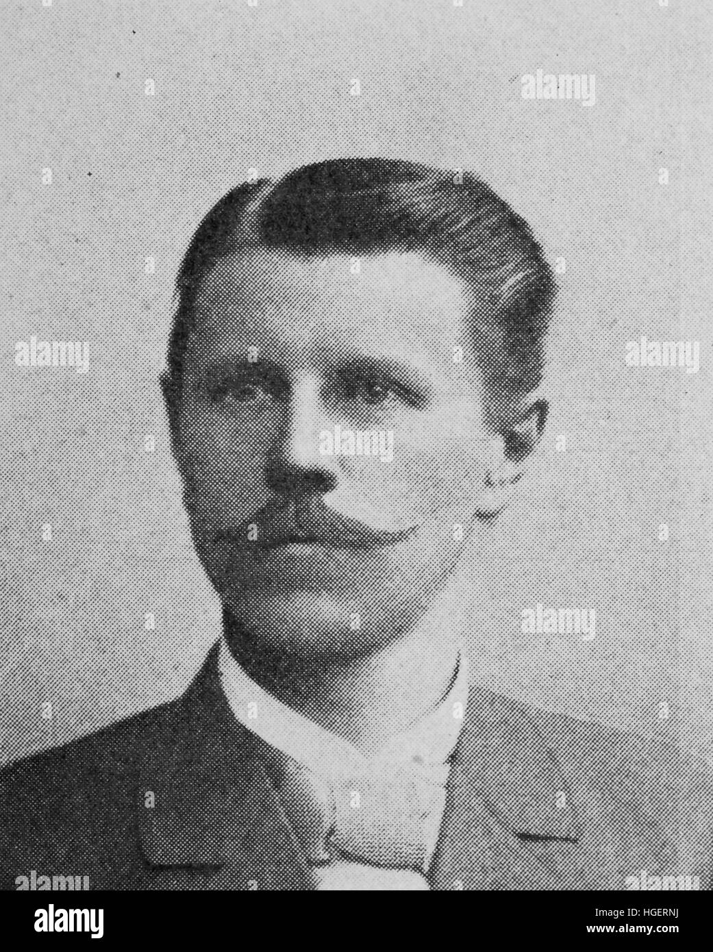 Carl Johann Emil Treptow, Born June 20, 1854; Died 20 November 1935, was a German mining scientist, reproduction - Stock Image