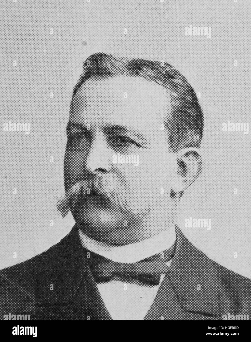 Adolf Ernst, October 6, 1832 - August 12, 1899, was a Prussian-born scientist., reproduction of a photo from the - Stock Image
