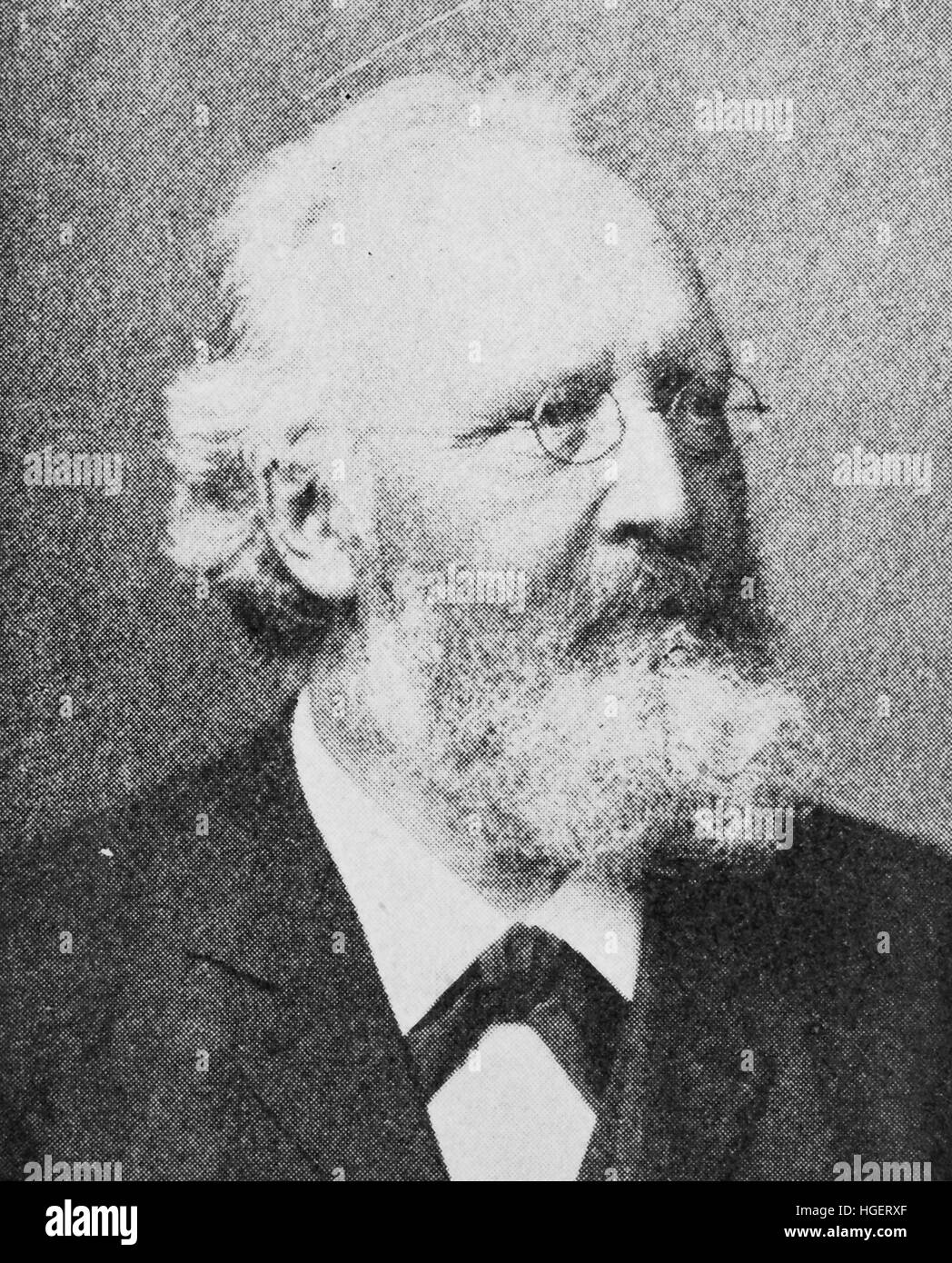 Johannes Ranke, 23 August 1836 - 26 July 1916, was a German physiologist and anthropologist, reproduction of a photo - Stock Image