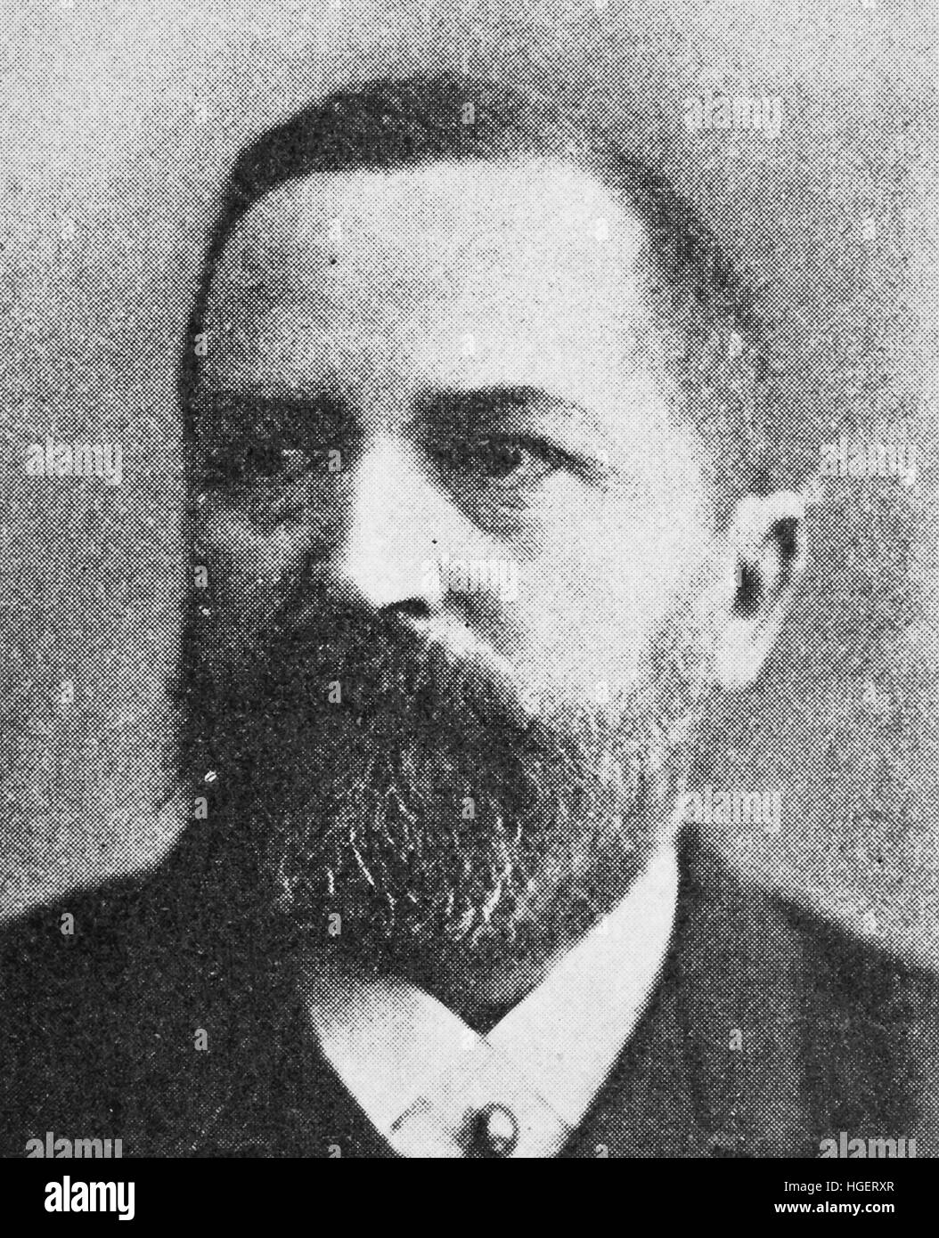 Friedrich Hermann Otto Finsch, 8 August 1839 - 31 January 1917, was a German ethnographer, naturalist and colonial - Stock Image