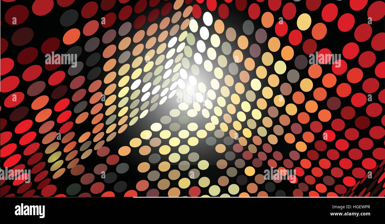 Vector Abstract Background Box Sides Made of Circles, Eps 10, Transparency Used - Stock Image