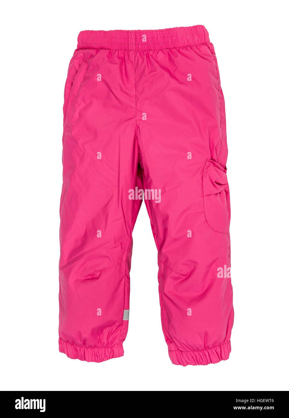 Warm pants isolated on white background - Stock Image