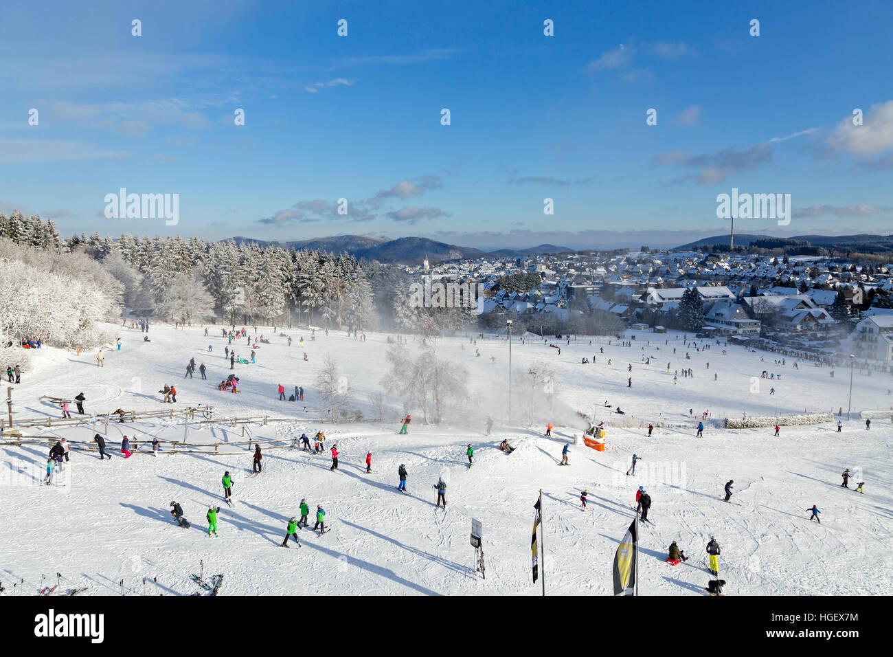 winter sport region Winterberg, Sauerland, Northrhine Westfalia, Germanymany - Stock Image