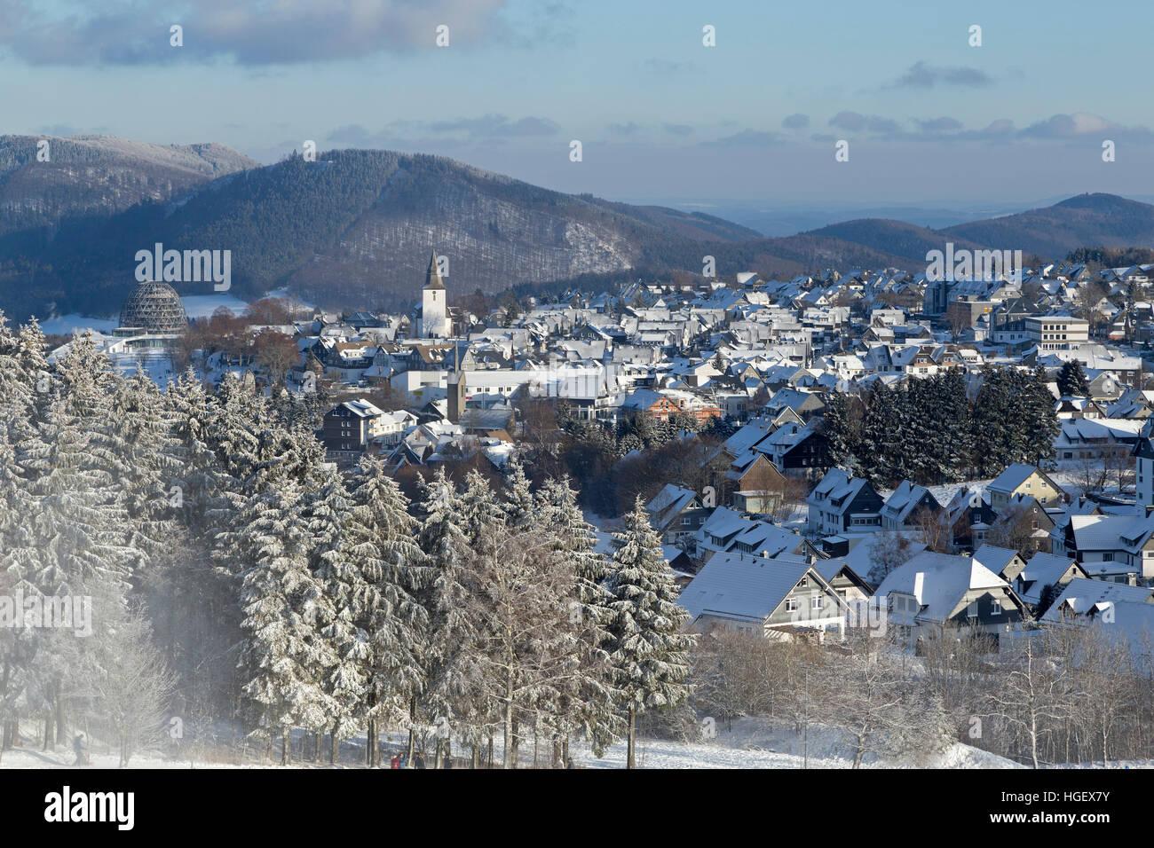winter sport region Winterberg, Sauerland, Northrhine Westfalia, Germany - Stock Image
