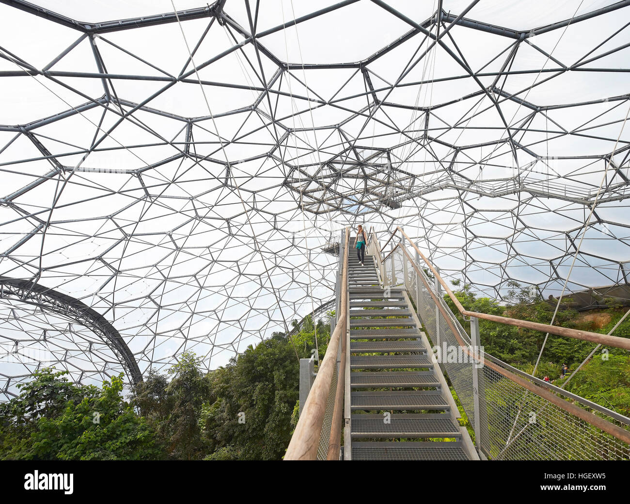 Tensile Metal Structure With Suspended Pathways Eden Project Bodelva United Kingdom Architect Grimshaw 2016