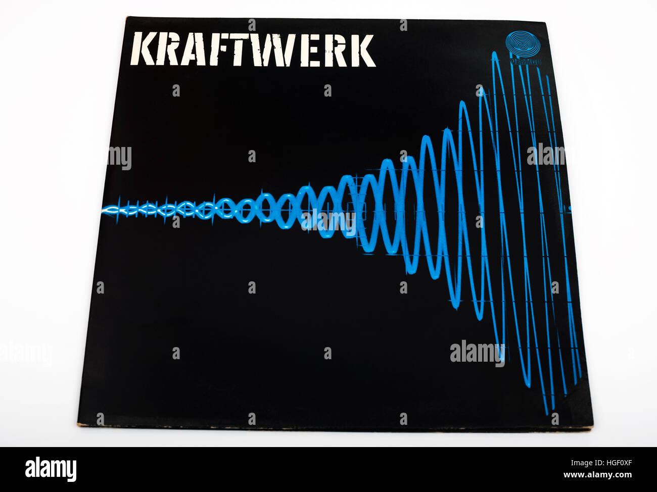 Kraftwerk double LP record Stock Photo