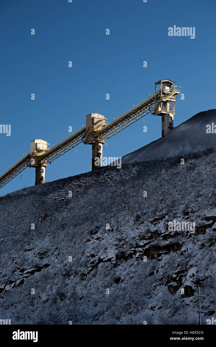 Somerset, Colorado - The coal loading facility at Arch Coal's West Elk Mine. Other mines in the area have closed. Stock Photo