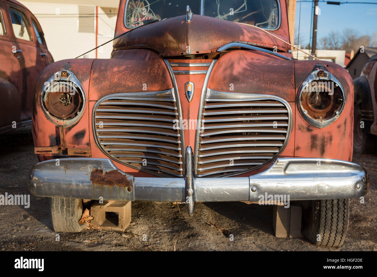 Delta, Colorado - Rusted classic automobiles on display at Orval\'s ...